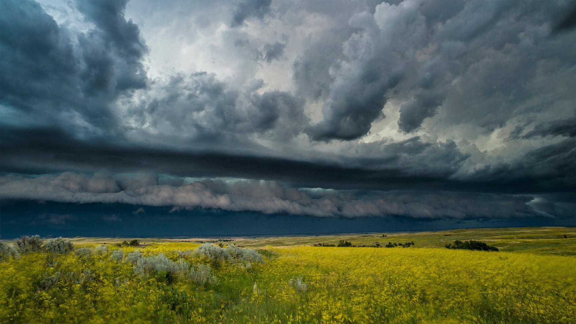 A Thunderstorm Rolls Across Theodore Roosevelt National