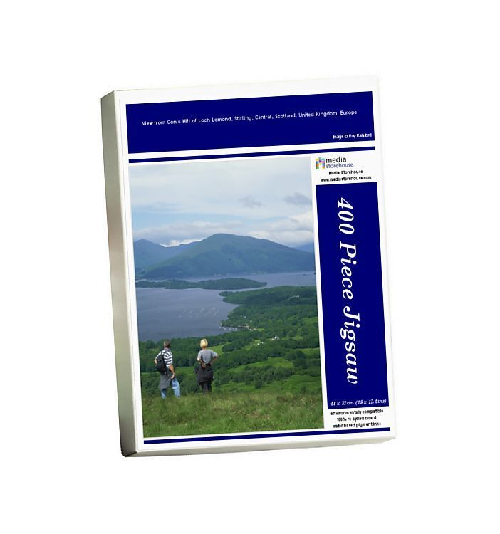 Jigsaw Puzzle-View from Conic Hill of Loch Lomond, Stirling, Central, Scotland, United Kingdom, Europe-400 Piece Jigsaw Puzzle made to order in the UK