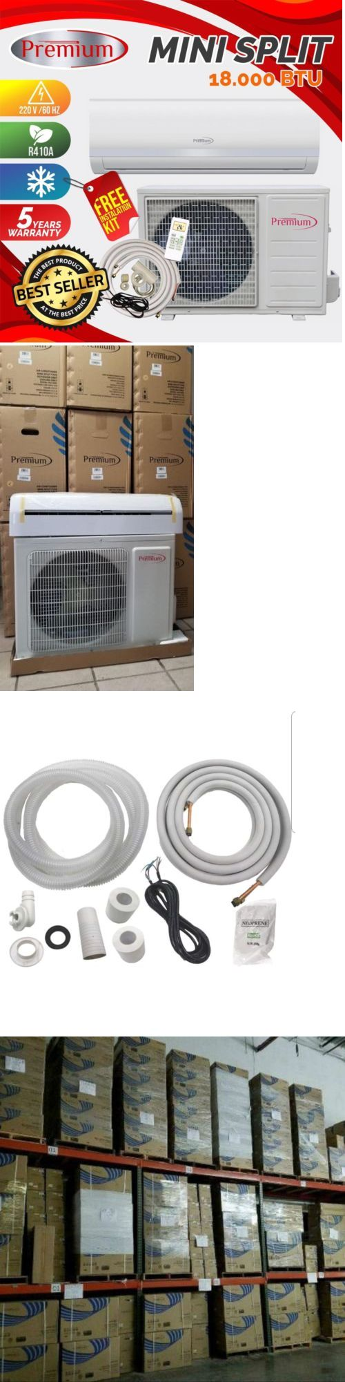 Central Air Conditioners 185108 Premium Mini Split Ac System Ductless 18000 Btu 1 5 Ton Only Cold 220v Buy It Now Split Ac System Mini Split Ac Ac System