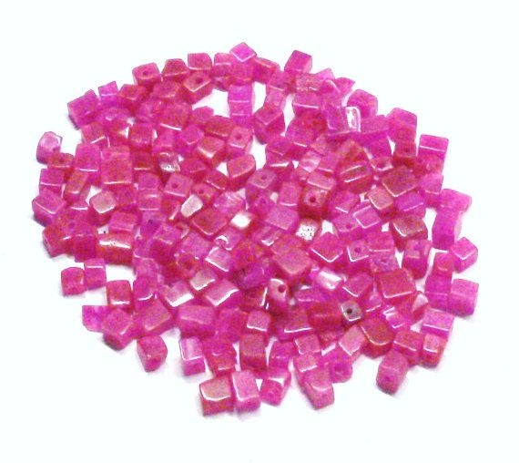 Rose Colored Malaysia Jade Beads by BeadsFromHaven on Etsy, $1.75