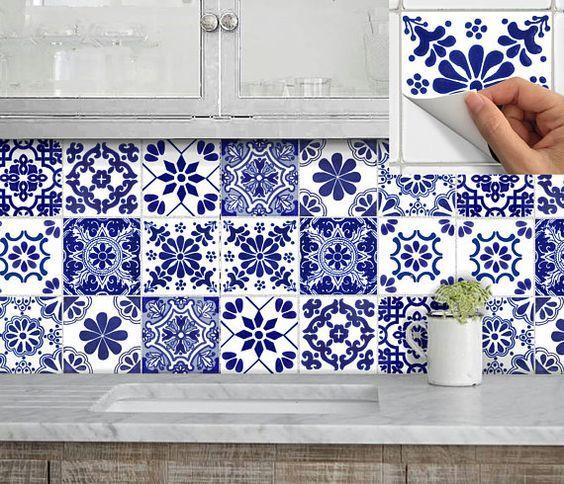 Fliesen für Küche Bad Wand Boden oder Treppen Aufkleber Vinyl - fliesen für küche