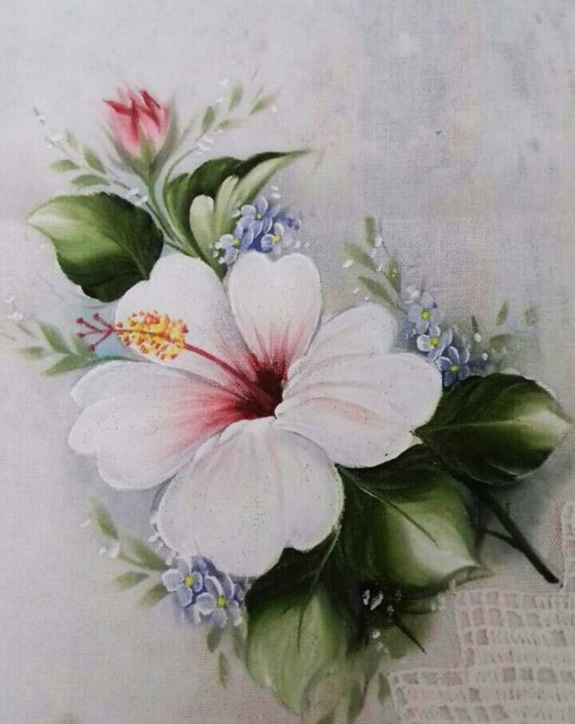 Pintura Em Tecido 75 Modelos De Flores Riscos Grátis