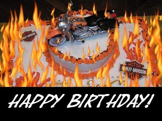 HarleyDavidson Birthday Cards Motorrad FXSTC 96