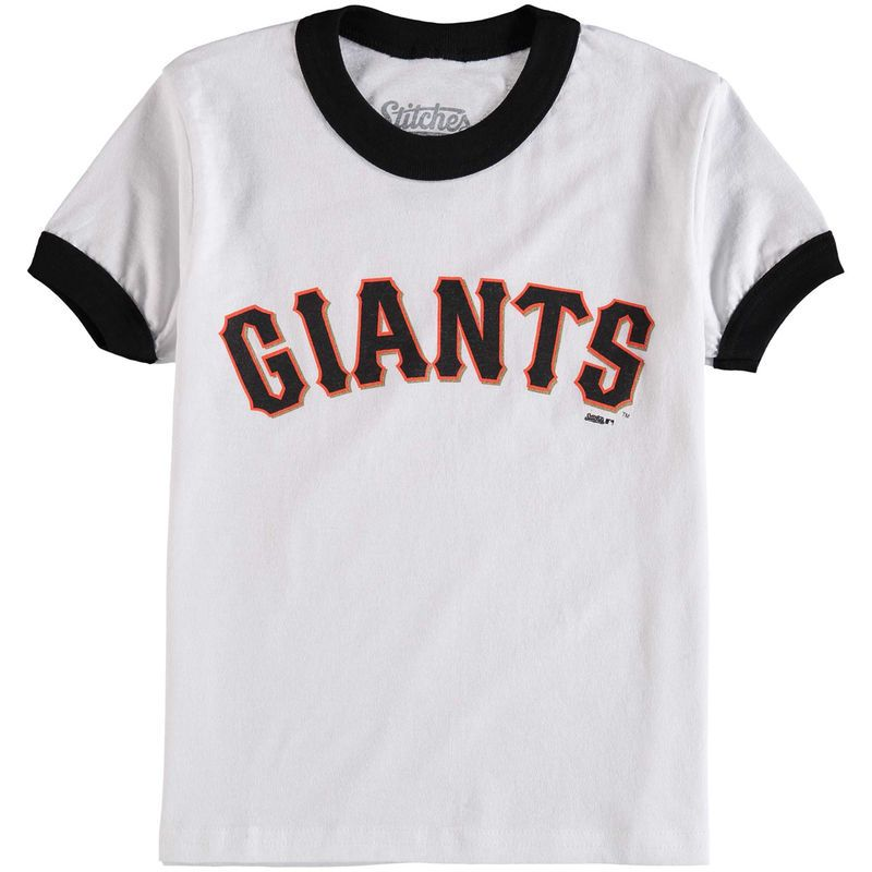 San Francisco Giants Stitches Youth Ringer T-Shirt - White/Black