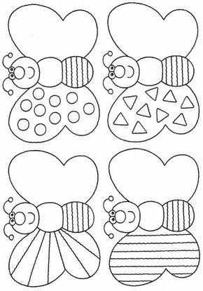 borboletasdecoradas 824×1181 | arbeitsblätter für die vorschule, kinder arbeitsblätter