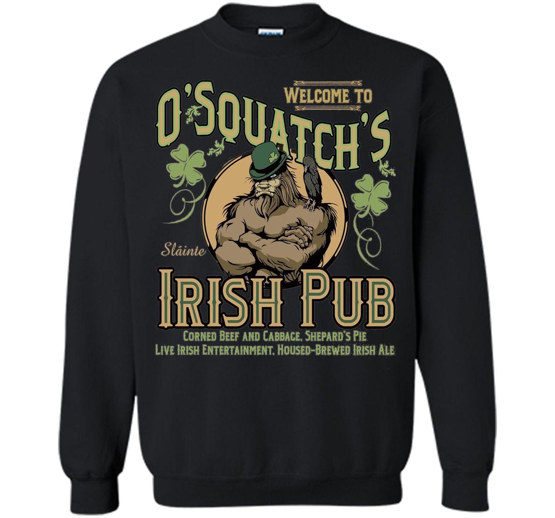 Irish Pub T-shirt O'squatch mlt6T