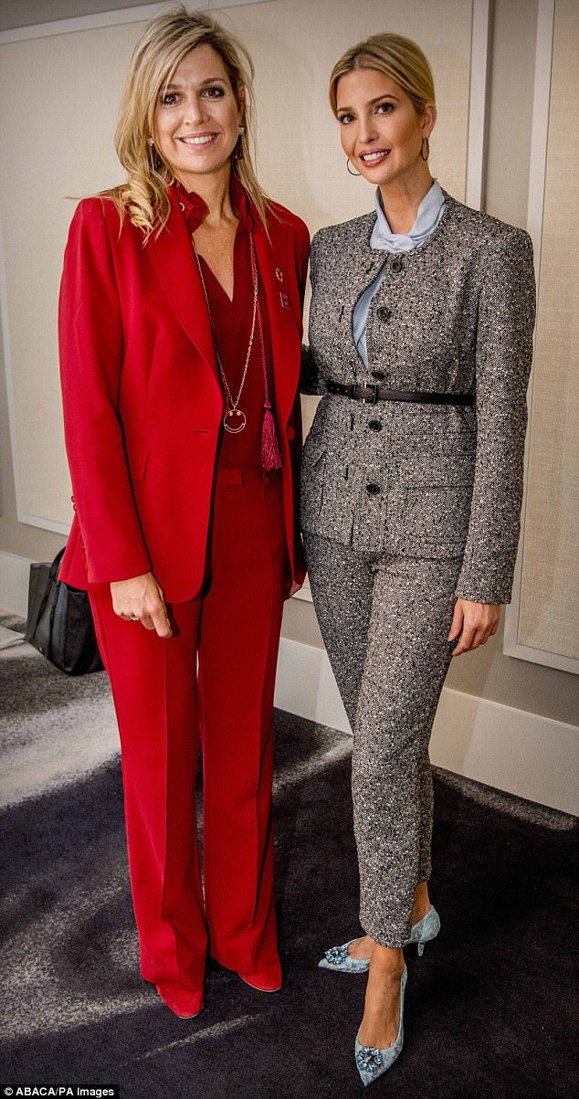 188fe63af28ea Snaps: Ivanka Trump and Queen Maxima of the Netherlands posed together for  the second time after being brought back with each other in New York City
