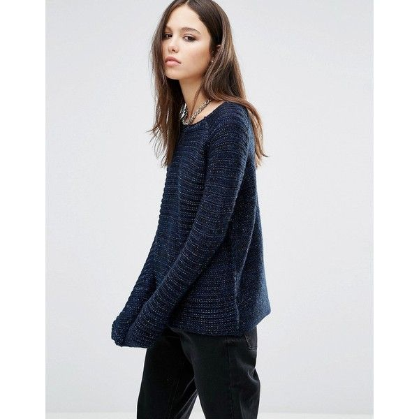 Brave Soul Horizontal Rib Jumper (€30) ❤ liked on Polyvore ...