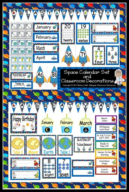 Getting your room ready for school? This calendar set is a great - school calendar