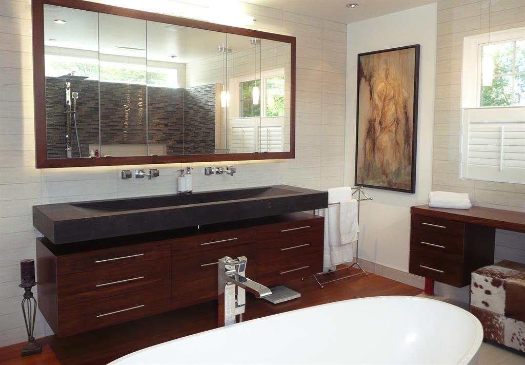 Meuble salle de bain 2 vasques pierre recherche google - Fabriquer meuble de salle de bain ...