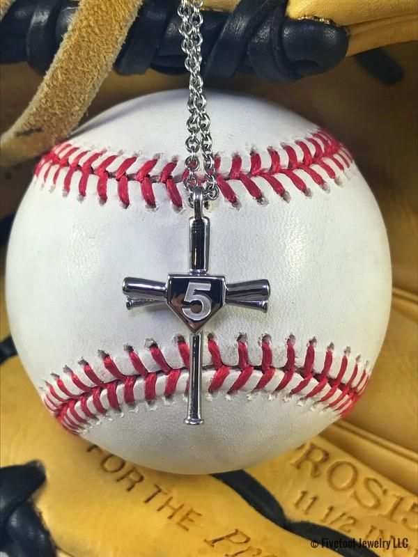 Customize Your Baseball Bat Cross With Your Jersey Number Baseball Necklace Espn Baseball Baseball Gifts