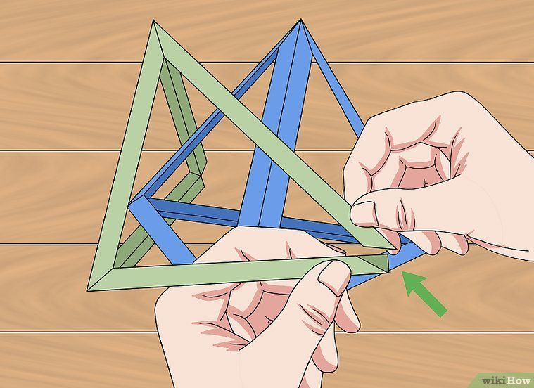 Photo of How to Create an Origami Three Intersecting Tetrahedron