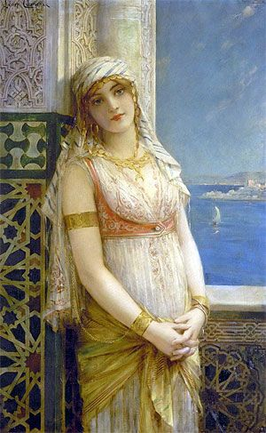 An Eastern Beauty Leon Francois Comerre Beauty Classic Art Painting Reproductions