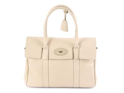 68eece964e BAG, MULBERRY, Bayswater, Buttercream, cream-coloured leather, details in  yellow metal, 36x23x17cm, dustbag, kvittokopia. #mulberry #bag #bayswater
