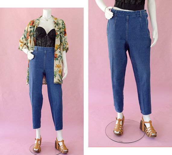 5ef354f8eef 80s High Waisted Mom Jeans