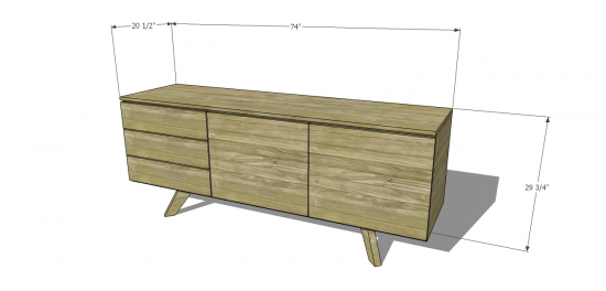 Modern Furniture Woodworking Plans free diy furniture plans to build an mid century modern credenza