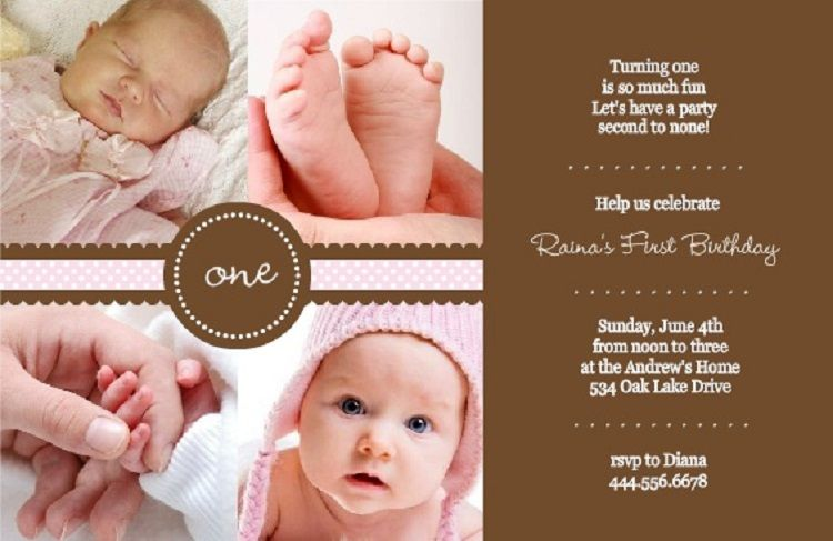 Pink Birthday Invitation Quotes For Baby Boy
