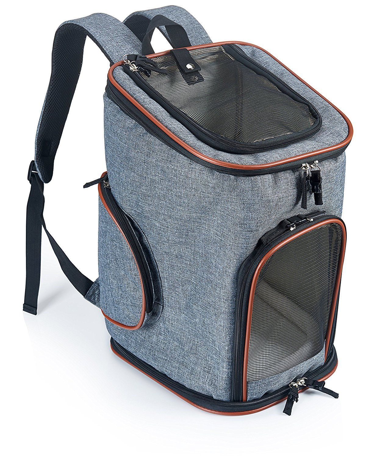 Soft-Sided Pet Carrier Backpack for Small Dogs and Cats by Pawfect Pets-  Airline-Approved, Designed for Travel, Hiking, Walking and Outdoor Use      Read ... 60bc0675e5