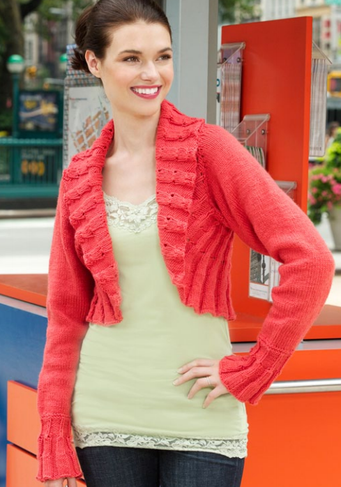 Ruffled Edges Shrug Pattern | Easy knitting, Knit patterns and Patterns