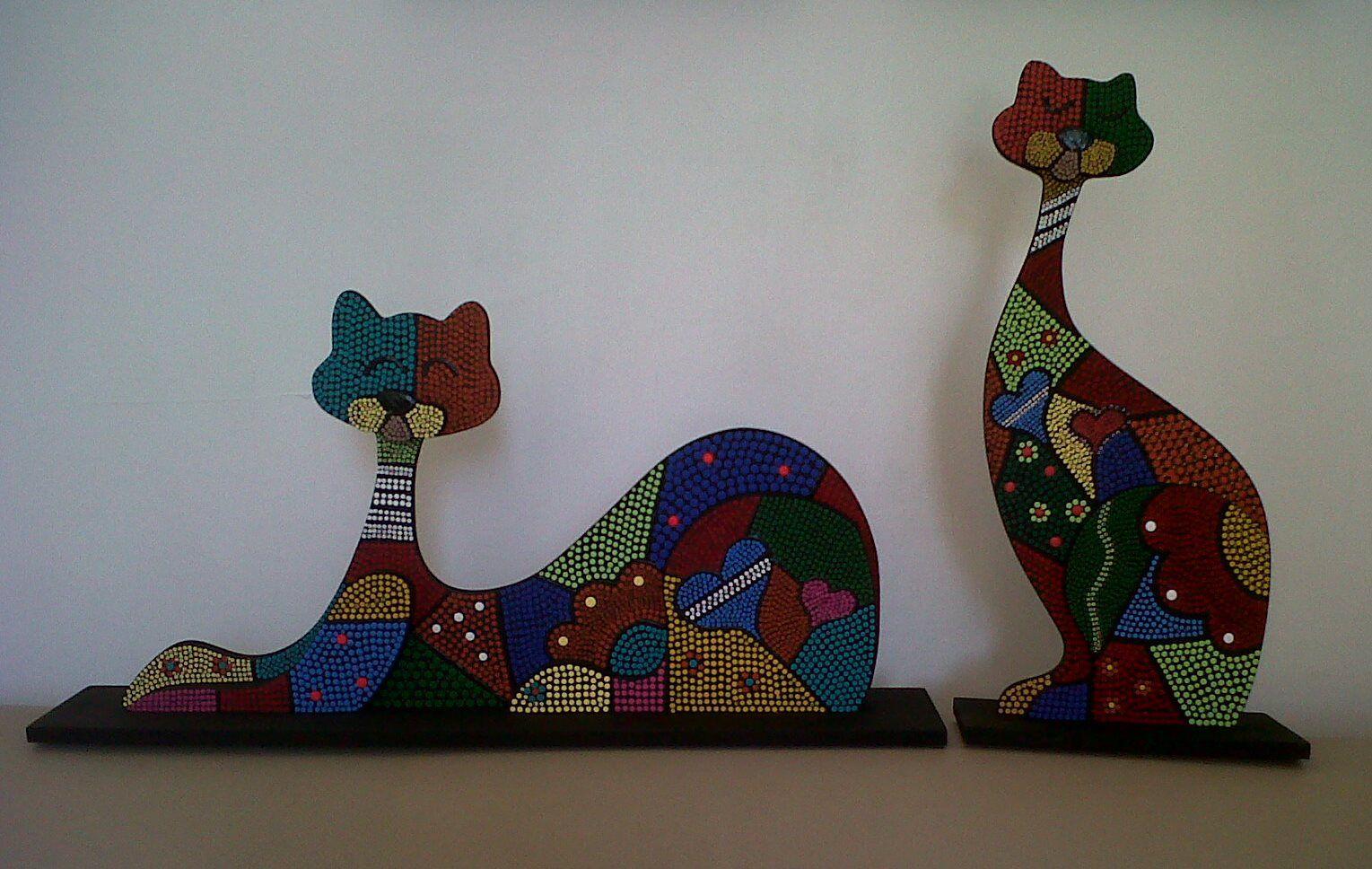 cats in pointillism / Gatos en puntillismo