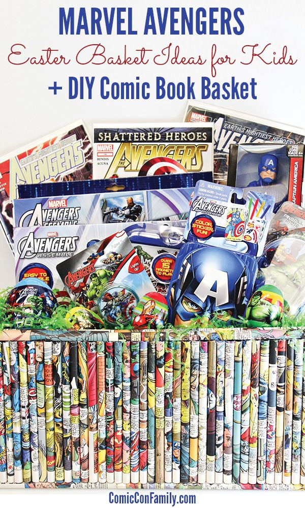 Easter basket ideas for kids marvel avengers basket ideas easter easter basket ideas for kids marvel avengers comic con family negle Image collections