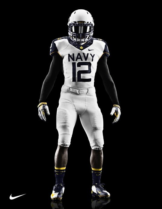 b089954ab Navy Midshipmen uniforms for 2012 Army-Navy Game via Nike. | Funky ...