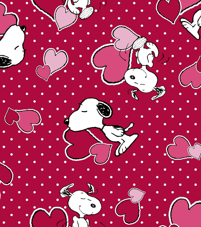 Valentine U0027s Day Print Fabric Red Peanuts Valentine Snoopy Valentine Valentine Print Printing On Fabric