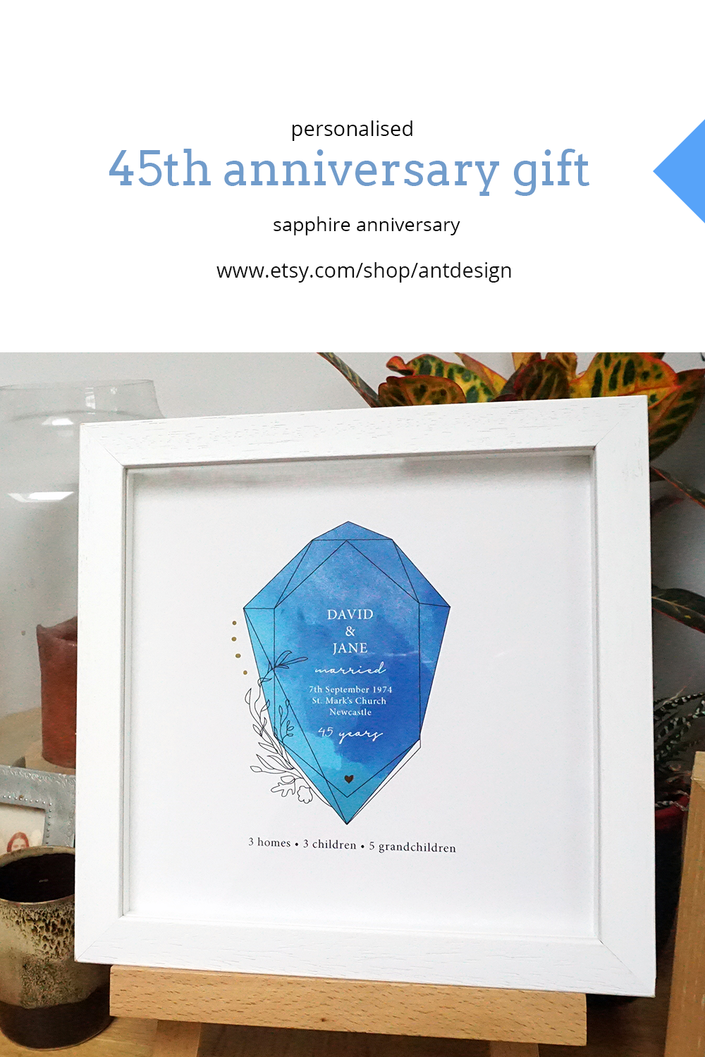 45th Anniversary Gift For Parents 45th Wedding Anniversary Etsy In 2020 Anniversary Gifts For Parents 45th Anniversary Gifts Anniversary Gifts
