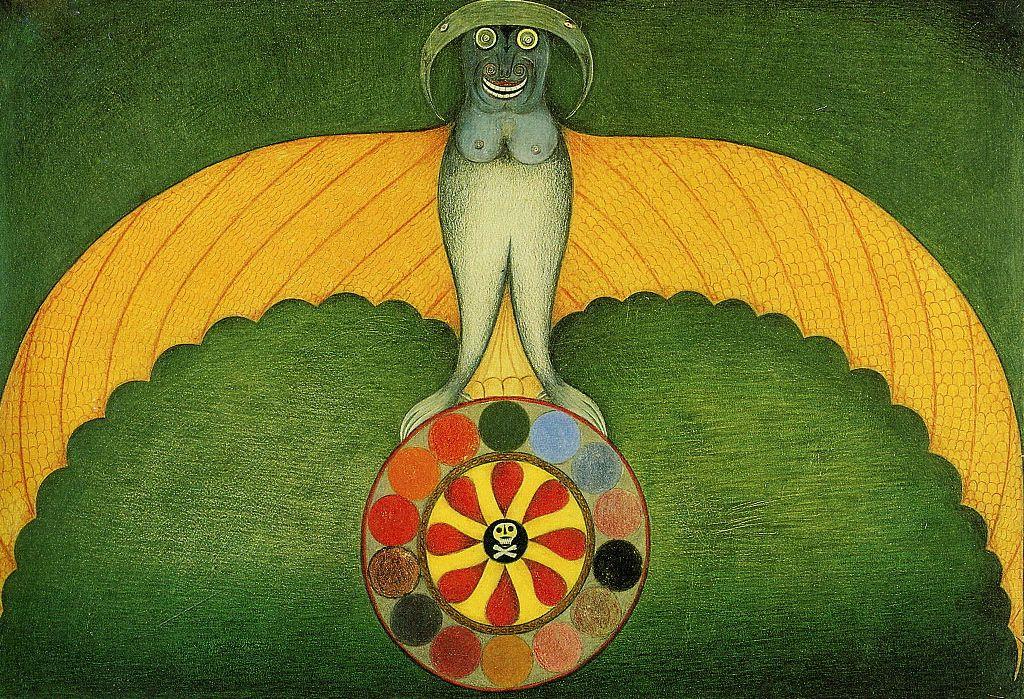 Friedrich Schröder-Sonnenstern. Bat Demon of All Spiritualistic Transformation. 1953.