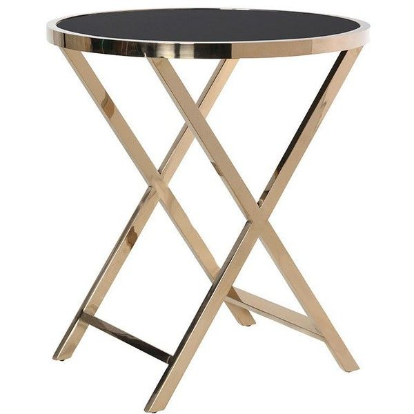 Asana Black Gold Large Round Side Table 370 Liked On