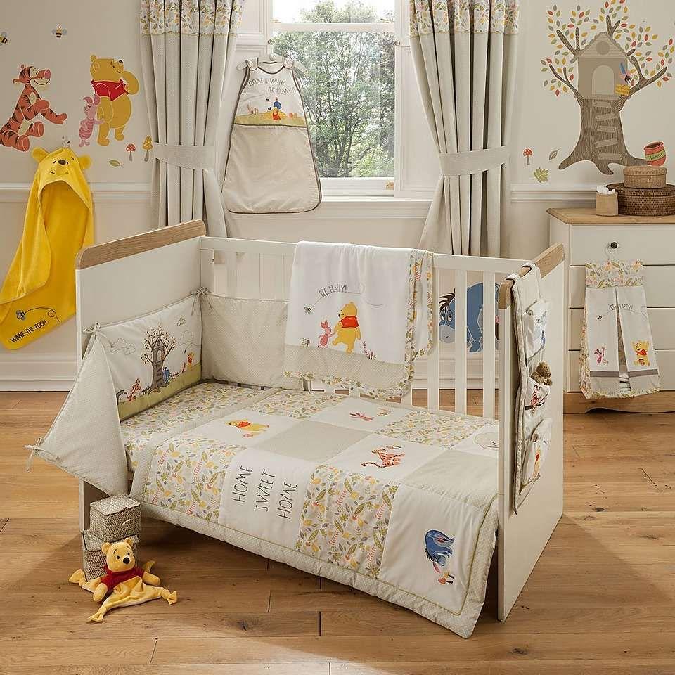 Disney Winnie The Pooh Nursery Cot Duvet Cover And Pillowcase Set