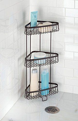Boshen 3 Tiers Triangular Wall Mounted Bathroom Caddy Shelves Rack