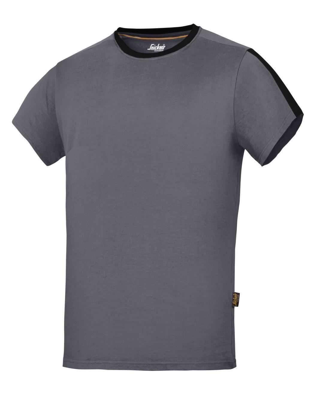 50d84324b Snickers 2518 Allround Work Crew Neck Cotton T-shirt Steel Grey ...
