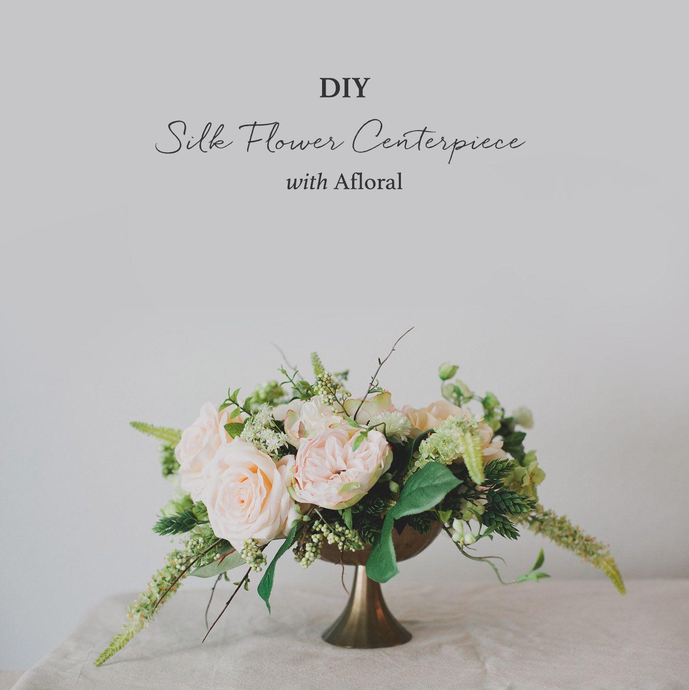 Diy Silk Flower Centerpiece Silk Flowers Centerpieces And Flower