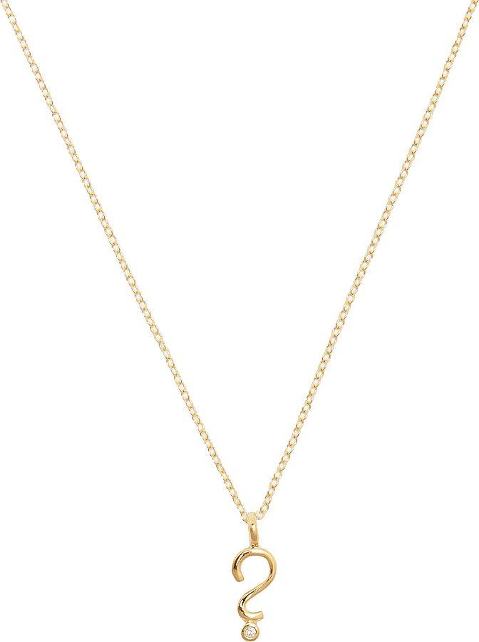 Alison lou diamond yellow gold question mark necklace shopping alison lou diamond yellow gold question mark necklace aloadofball Choice Image