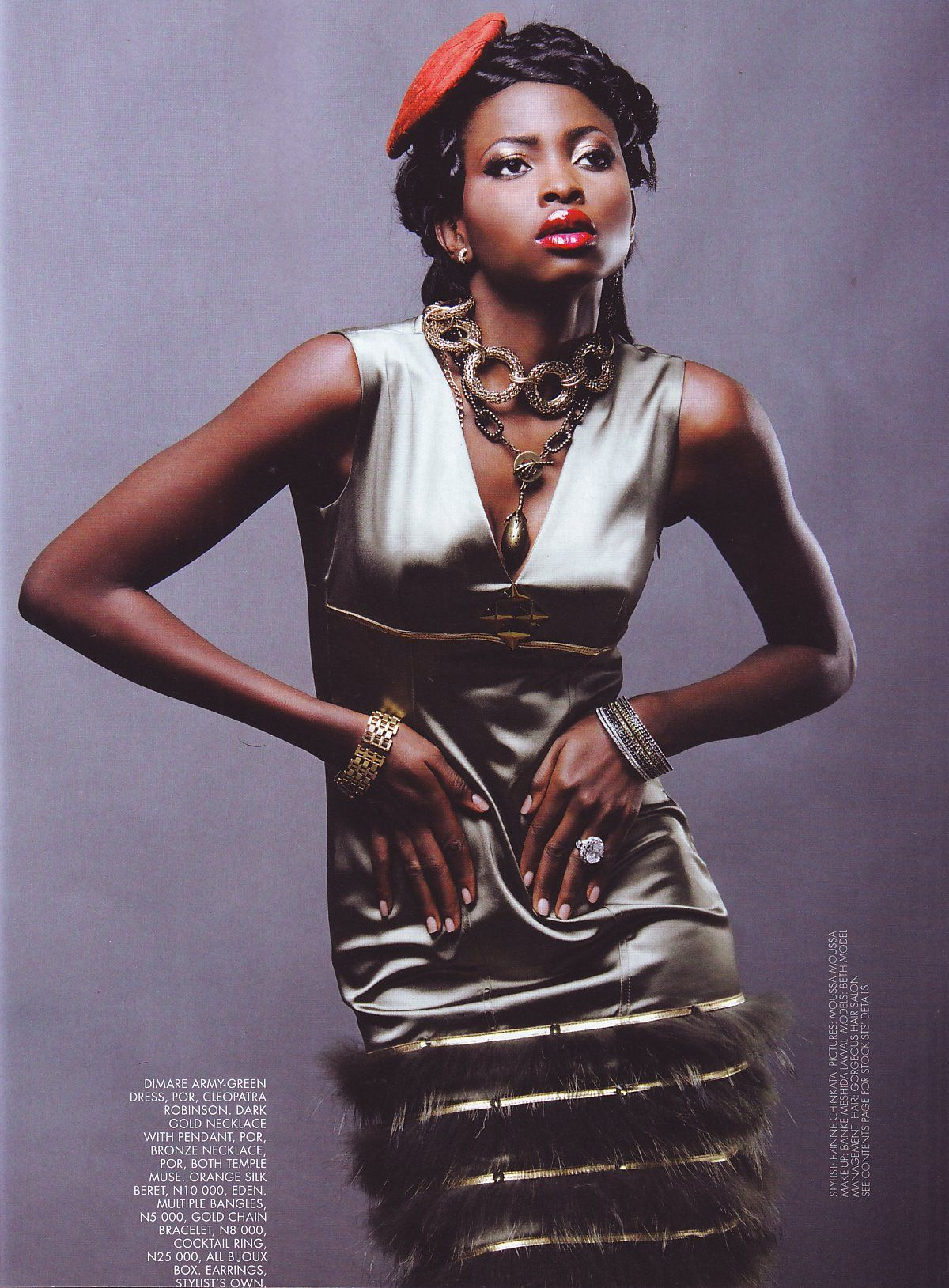 Tear sheet from True Love West Africa Mag.