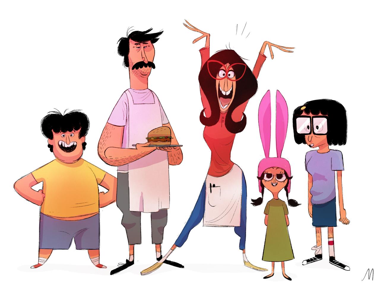 Art of jason mclean photo character design bobs burgers