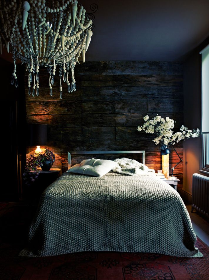 Before  After My Bedrrom  Planked walls Dark romantic bedroom