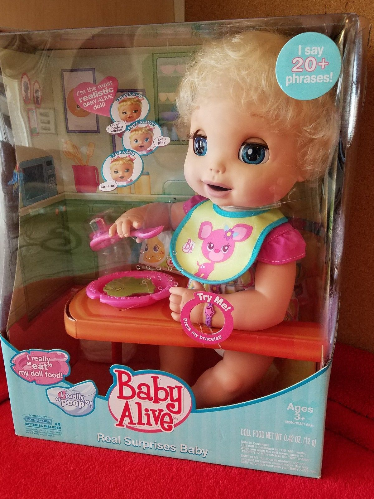 Baby Alive Real Surprises Great Gift Christmas 3 Nib Interactive 2010 Baby Alive Surprise Baby Baby Dolls