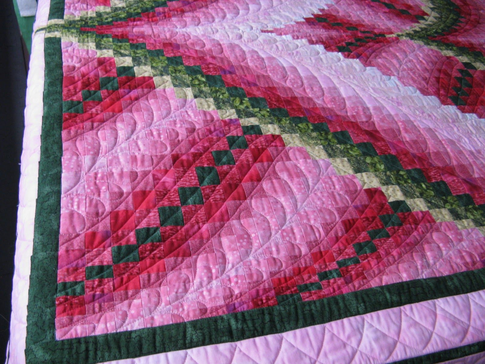 Molly brought me this gorgeous Bargello Quilt top she made. The ... : bargello heart quilt pattern - Adamdwight.com
