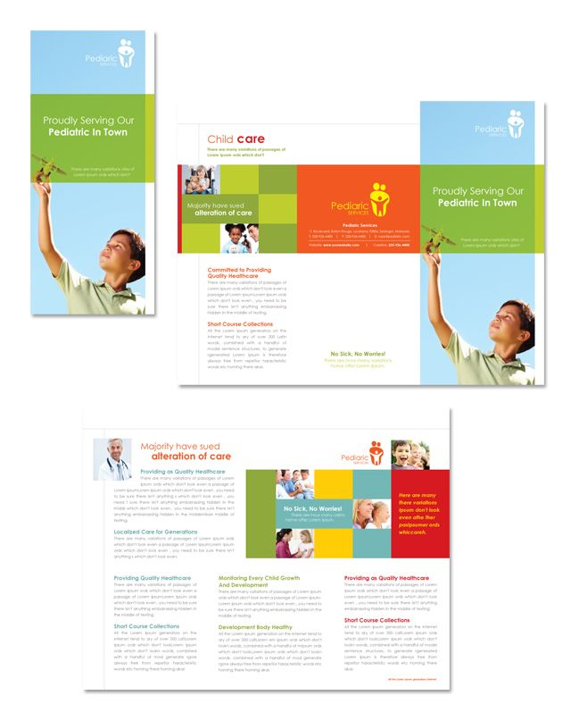 Pediatrician & Child Care Tri Fold Brochure Template http://www ...