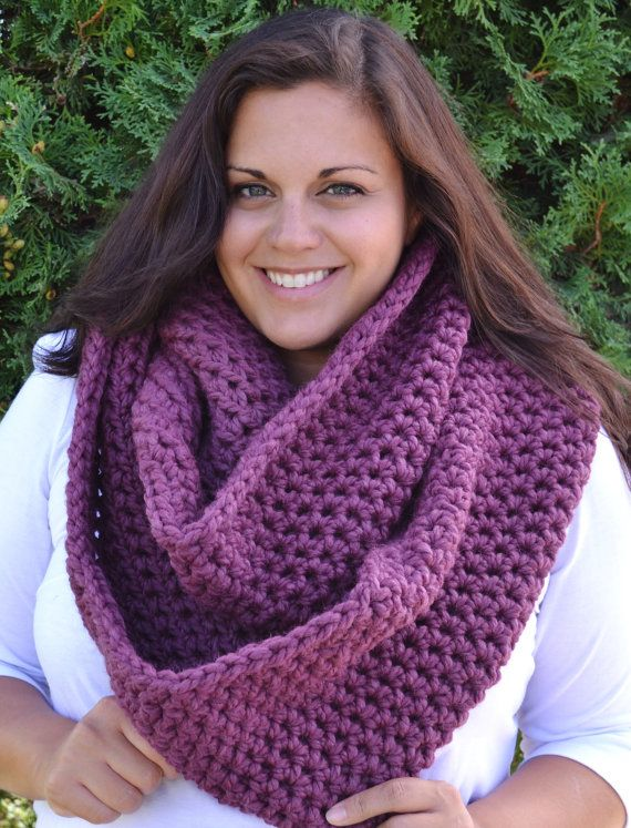 Oversized Infinity Scarf in Fig