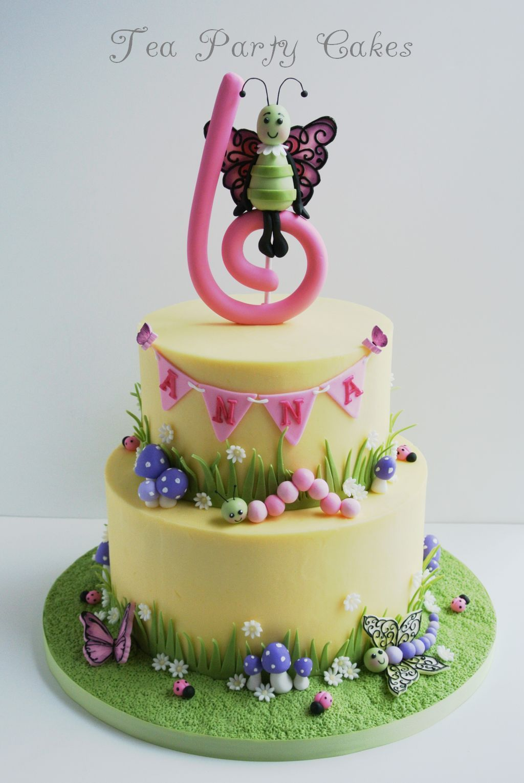 Childrens Birthday Cakes Spring Garden Themed Cake That I Made