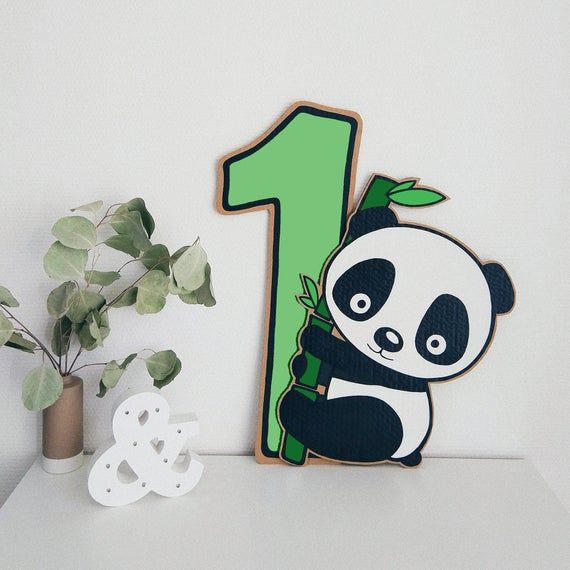 Baby Panda Bear Happy 1st Birthday