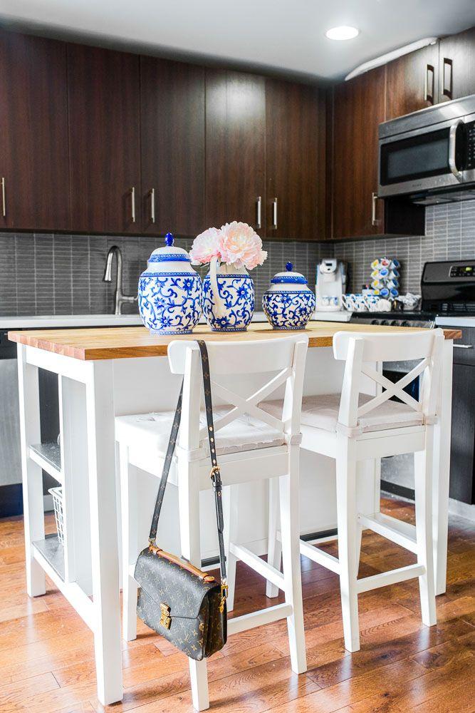 STENSTORP Kücheninsel, weiß, Eiche | Kücheninsel, Barhocker und Eiche