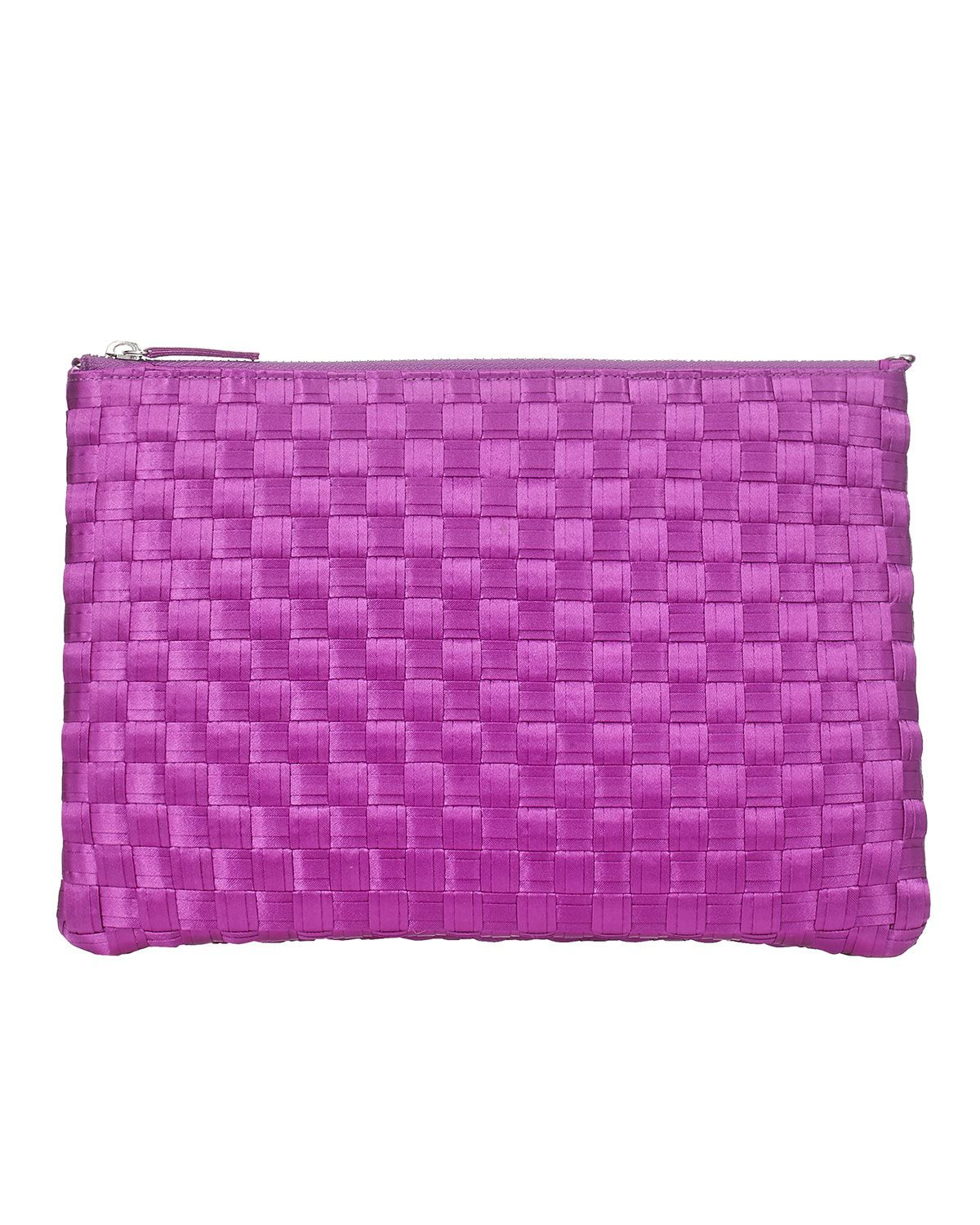 Bags   Purple Annabel Satin Weave Clutch Bag   Phase Eight   Dressy ...