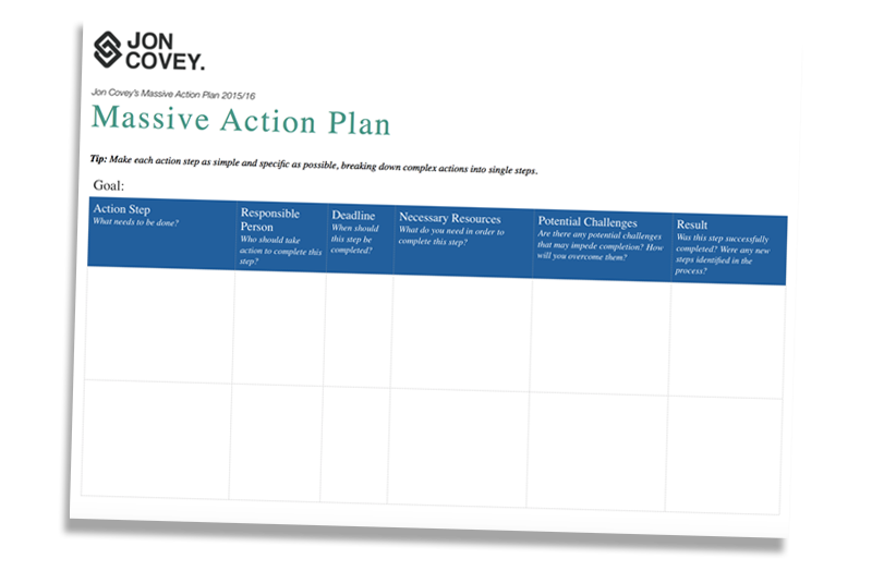 DOWNLOAD MY FREE MAP (MASSIVE ACTION PLAN) TEMPLATE