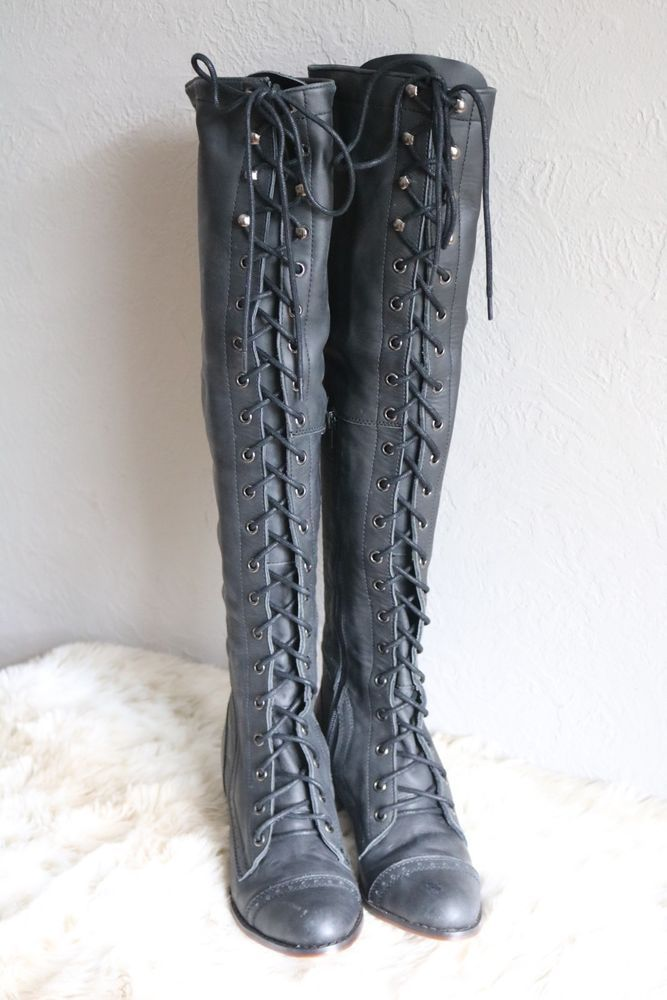 Jeffrey Campbell Joe Lace Up Boots Size 8m From Free