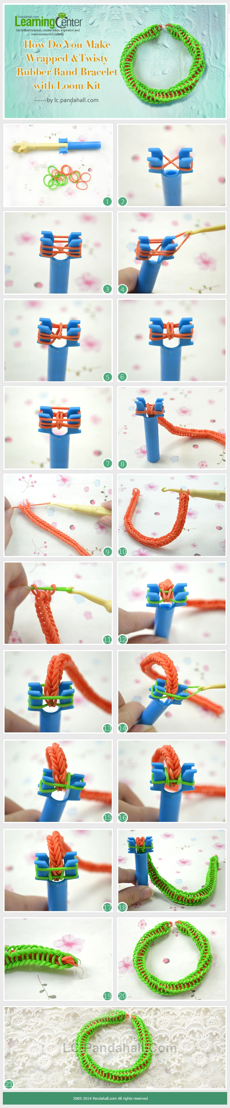 How to weave a snake Weaving patterns from rubber bands