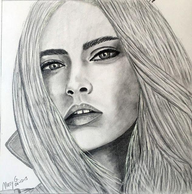 Dibujo Artistico by Mary G CARA DELEVINGNE  My ARTDRAW